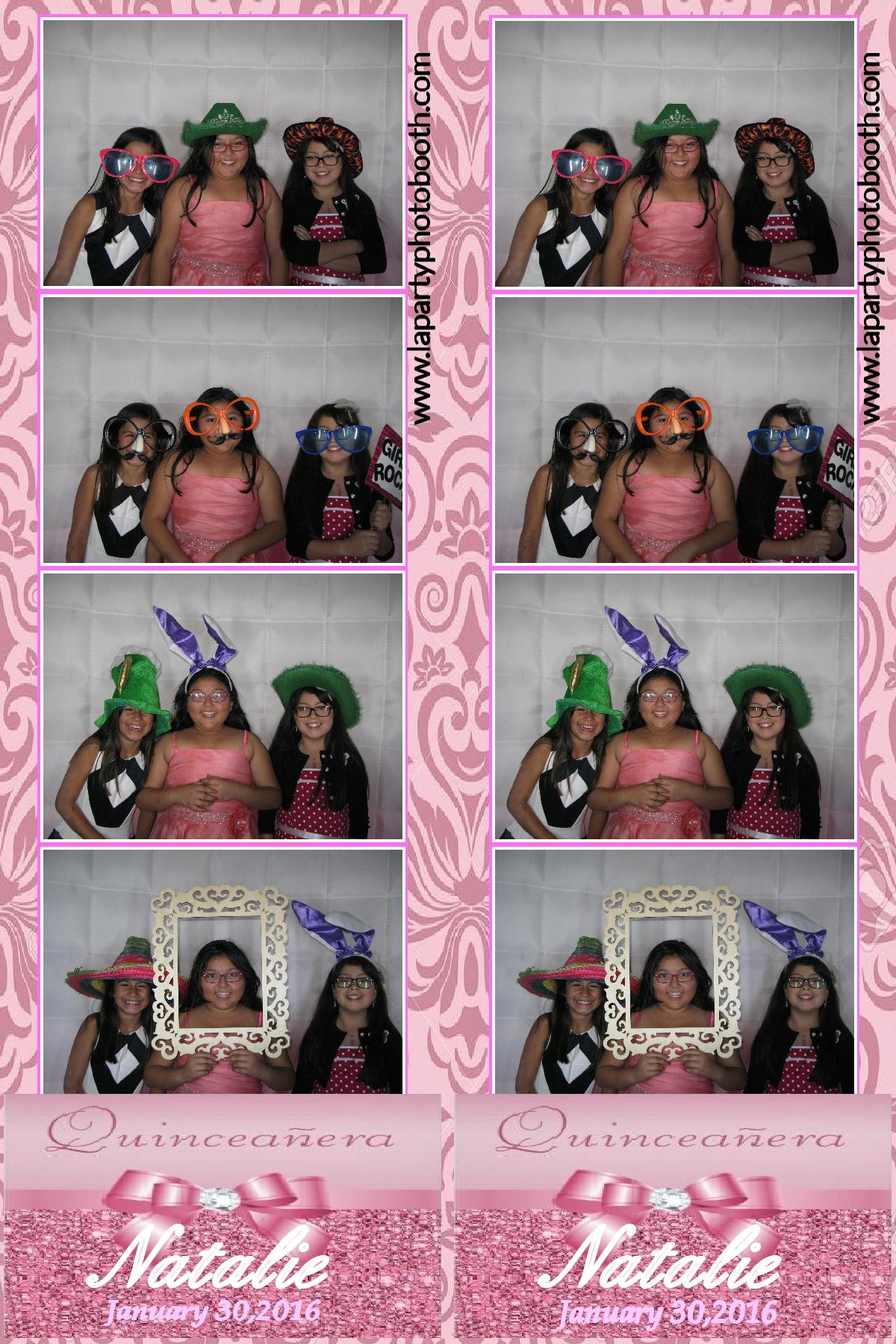 Natalie S Quincea 241 Era L A Party Photo Booth